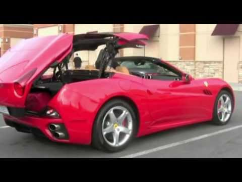 ferrari california retractable hard top in motion youtube