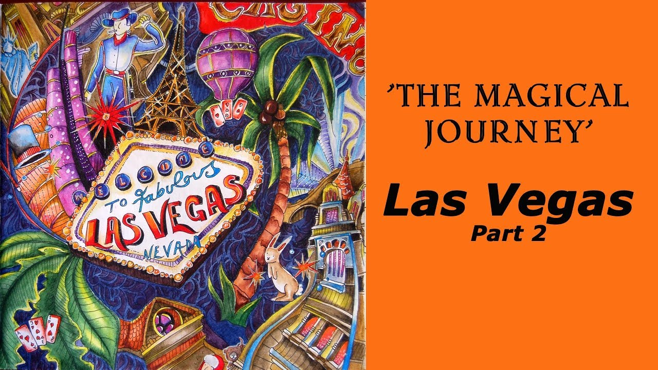 Coloring Magical Journey Las Vegas Part 2 Derwent Inktense Pencils