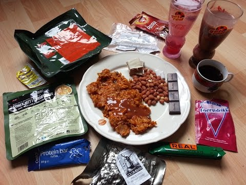 norwegian-army-mre-arctic-field-ration-menu-10:-pork-in-sweet-and-sour-sauce
