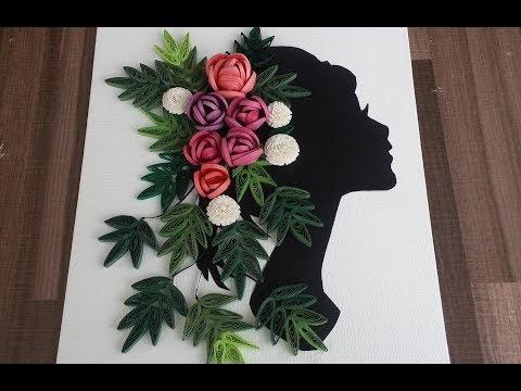 Paper Quilling Canvas Art