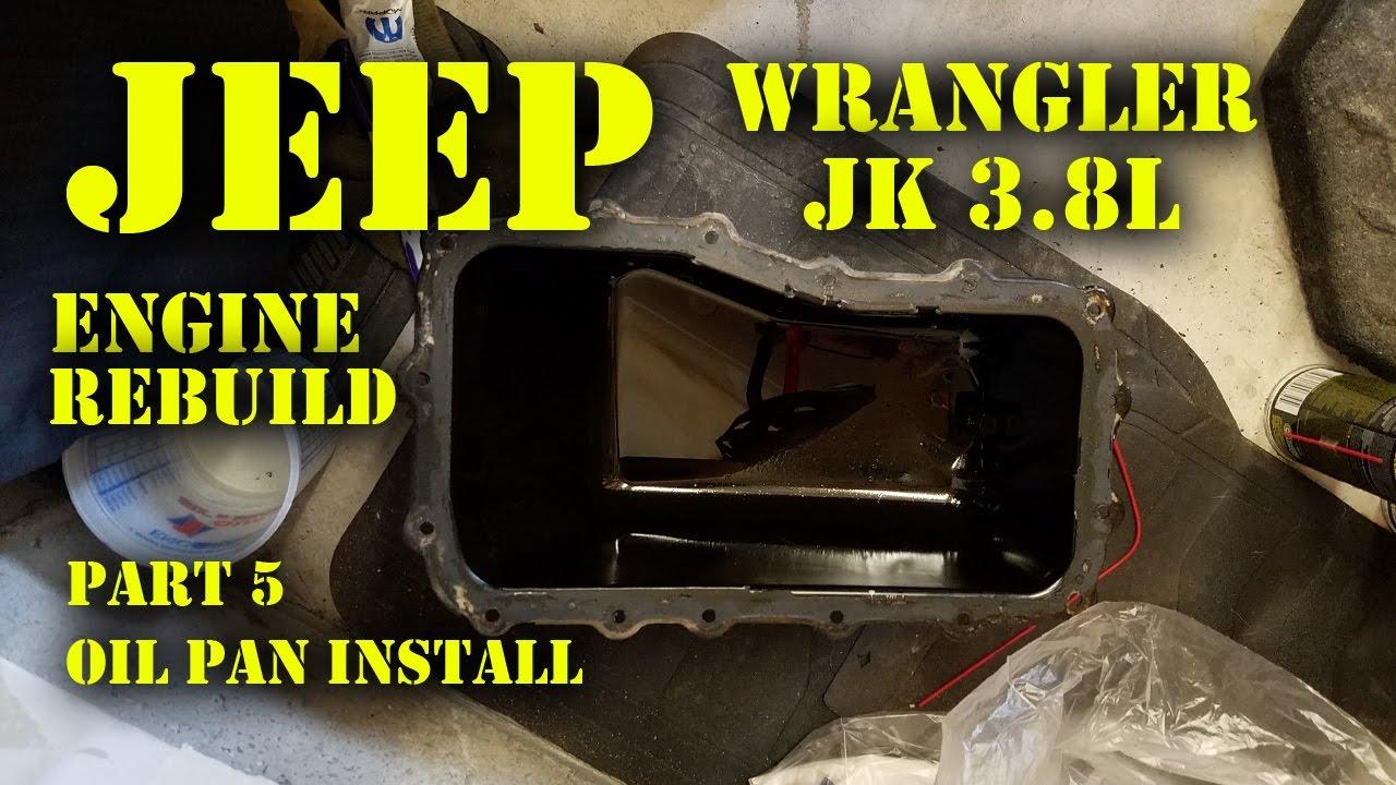 Jeep Wrangler JK 3 8L Engine Rebuild Part 5 - Oil Pan Install