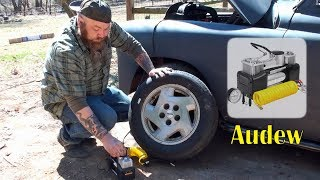 👀 AUDEW PORTABLE AIR COMPRESSOR PUMP (Tire Inflation) FAST Double Cylinder REVIEW👈