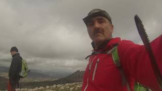 pico del terril 1128 m y peñon de algamitas 1121 m 28 2 2017