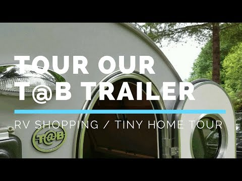 Come inside our RV and Tour our T@B (TAB) Trailer by Nucamp - Fireside Traveler - Mara and David