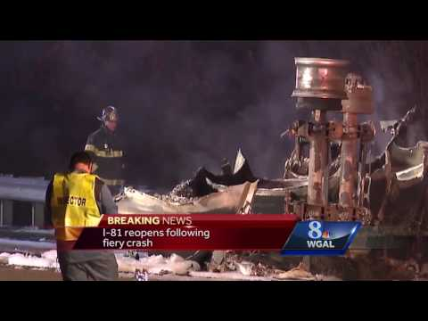 Driver missing, truck nearly unrecognizable after I-81 explosion