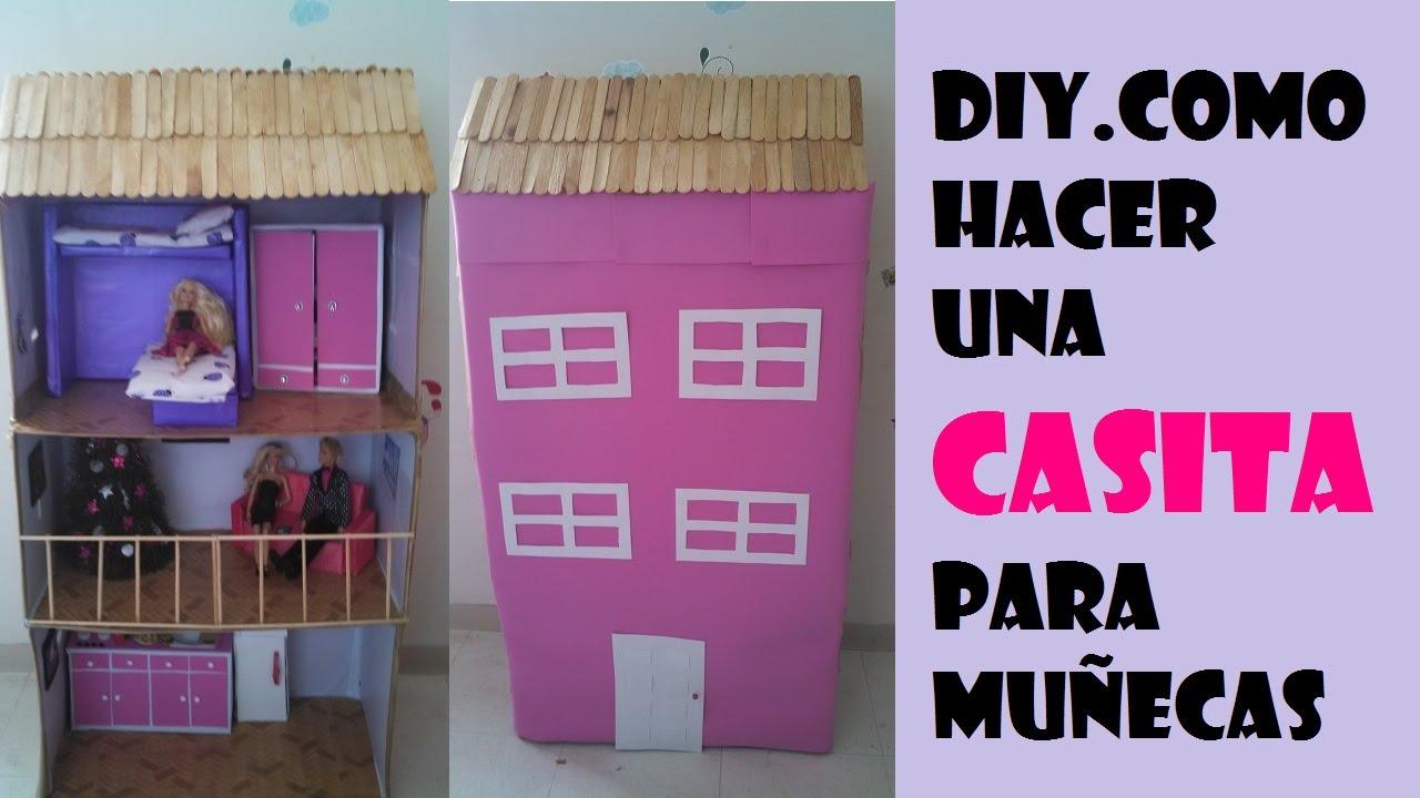 Como hacer casa para mu ecas video completo youtube - Como hacer muebles para casa de munecas ...