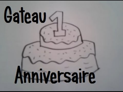 dessiner un gateau d 39 anniversaire youtube. Black Bedroom Furniture Sets. Home Design Ideas