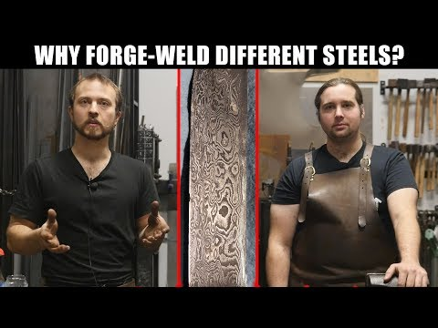 """What is Pattern Welded Steel (""""Damascus"""") - Explained by Blacksmiths (Part 1 of 2)"""
