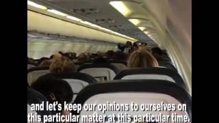 Pilot Shuts Down Political Arguments on Plane