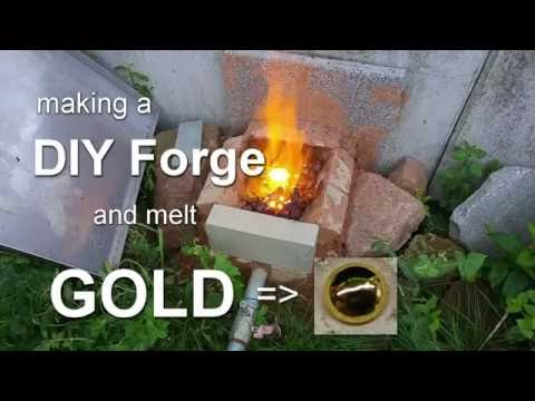 How to make a DIY Forge and melt GOLD
