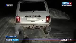 Житель Бессоновки привязал собаку к машине и тащил по дороге