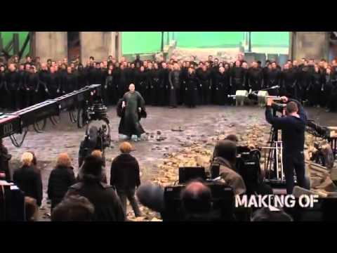 На съемочной площадке последней главы Гарри Поттер и Дары Смерти: Часть 2
