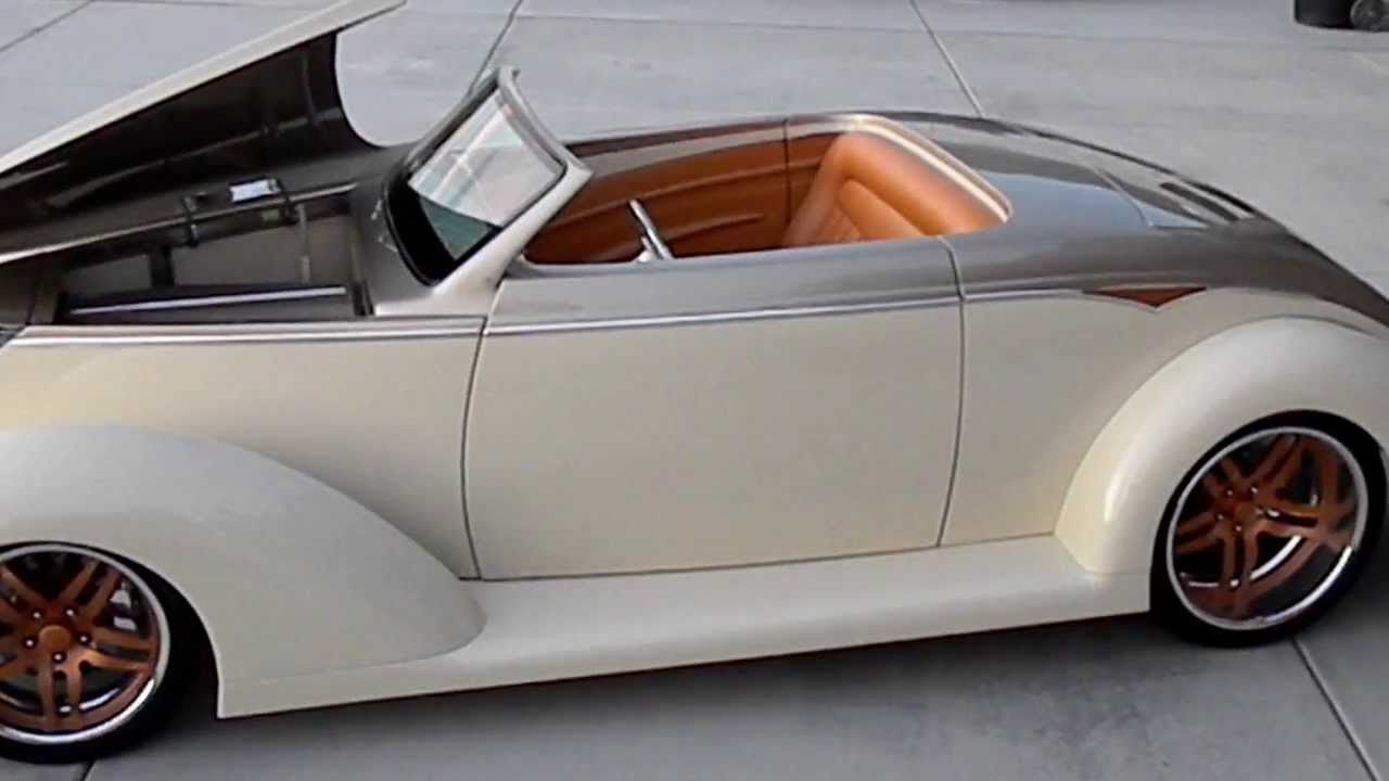 Kindig It Design >> 1937 Ford Roadster Suicide Blonde Custom Bagged Slammed Chopped Dropped Injected - YouTube