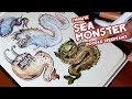 1 Minute Sea Monster DOODLE SPEEDPAINT