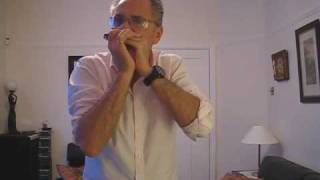 Paul Lamb plays a Sonny Terry style harmonica slow blues