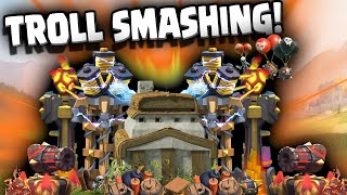 Clash of Clans - GOD HIMSELF cannot defeat this TROLL BASE