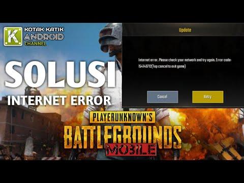 Cara Mengatasi Internet Error PUBG Mobile (error code: 154140712)