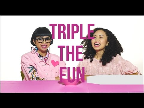 "Triple The Fun ""Chubby Bunny"" with Agnes Oryza   DIANA RIKASARI   Funny Video"