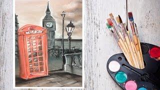 Видео урок Рисуем Пастелью Серый Лондон! #Dari_Art