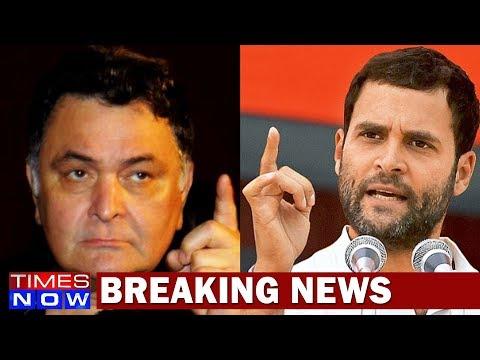 Bollywood Actor Rishi Kapoor Hits Out At Rahul Gandhi