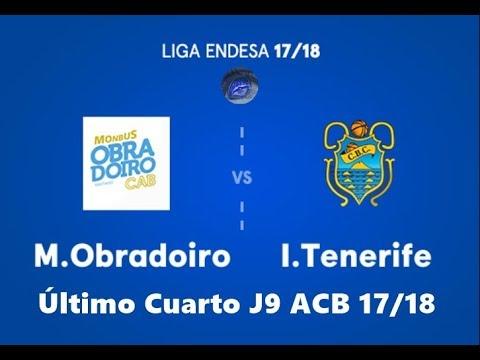 Último cuarto J9 ACB 17/18 Obradoiro Vs CB.Canarias