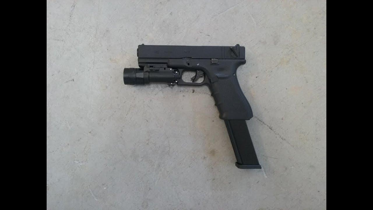 [Airsoft] WE Glock 18C Gen 4 GBB Pistol (Extended Magazine)