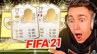 BACK TO BACK HUGE ICON PULLS!! (FIFA 21 PACK OPENING)