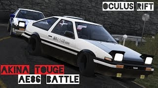 Mount Akina Touge Downhill Battle with Toyota AE86 Tuned. Time was ...