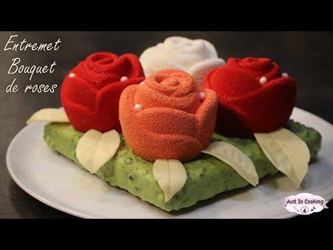 ♡-recette-entremets-bouquet-de-roses-de-la-saint-valentin-:-pistache-chocolat-blanc-fruits-rouges-♡