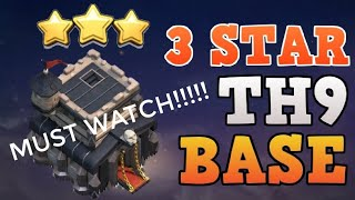 Best 3 Star Attacking Strategy For TH_9 | Clash Of Clans | SS Creationz