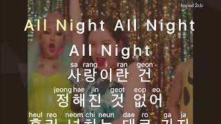 [KARAOKE] Girls' Generation - All Night