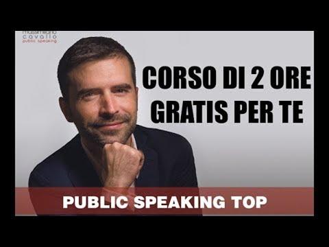 Corso di Public Speaking: Parlare in Pubblico con Massimiliano Cavallo