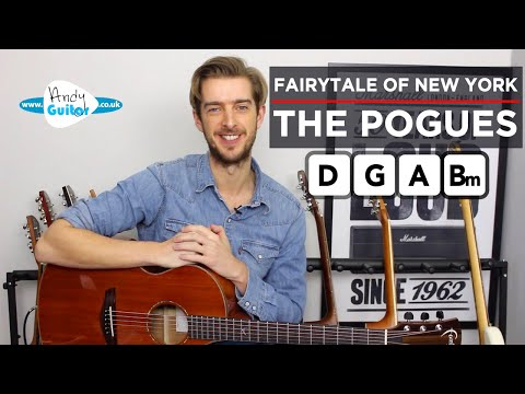 Fairytale Of New York EASY CHORDS Guitar Lesson Tutorial - The Pogues Kirsty MacColl
