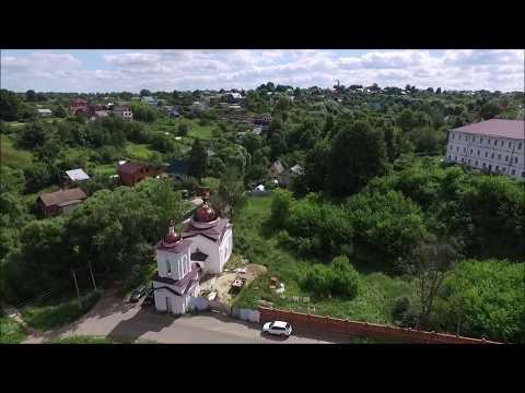 Город Малоярославец с высоты. Полет на квадрокоптере Phantom 3