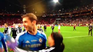 Ivanovic grabs and squeezes Eva Carneiro (hot Chelsea physio) in Europa league Final