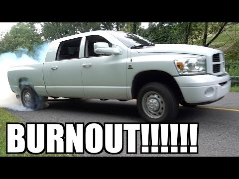 5.9 CUMMINS MEGACAB IS BACK IN ACTION and DOING BURNOUTS!!!
