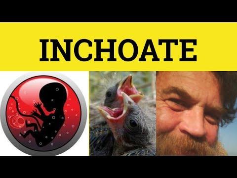 🔵 Inchoate -