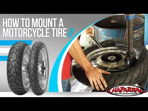 How To Mount A Motorcycle Tire You