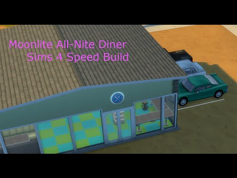 Sims 4 Dine Out Speed Build | Moonlite All-NIte Diner |