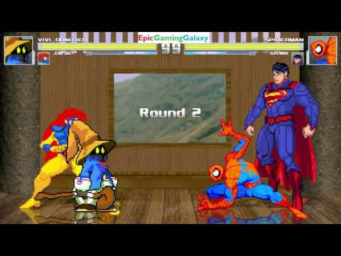 Superman And Spider-Man VS Vivi Ornitier And Jean Grey In A MUGEN Match / Battle / Fight