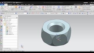 NX Modeling Concept Design - NX 9.0 (Impellar Hexa Nut)