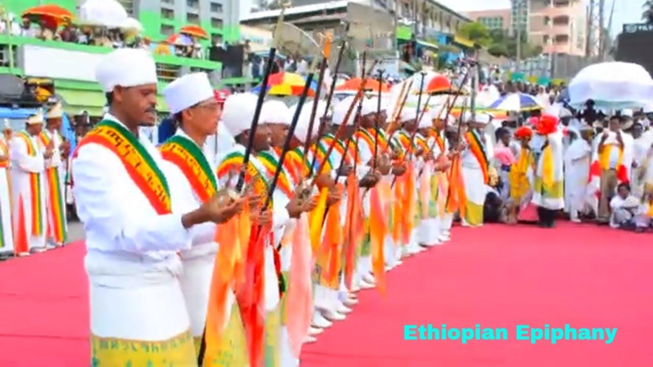 የጥምቀት በዓል አከባበር ምስል - Ethiopian Epiphany Celebration Footage Full HD (AHS)