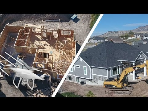 Download Youtube: BUILDING A HOUSE! 🏡 (Drone View) - Ellie and Jared