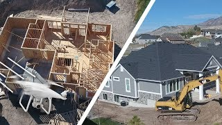 BUILDING A HOUSE! ???? (Drone View) - Ellie and Jared