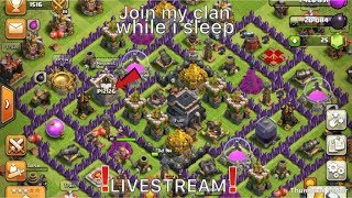 Join my clan on COC (All night Stream) while I sleep