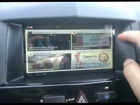 Opel astra h with custom 7 screen navi youtube for Astra h tablet install