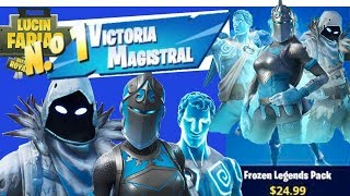 MASTERFUL VICTORY WITH THE NEW LEGENDARY SKIN OF THE FROZEN//FORTNITE BATTLE ROYALE PACK
