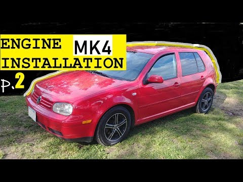 MK4 VW - HOW TO INSTALL NEW ENGINE Volkswagen GOLF, Jetta. FIRST START. Complete Guide. P. #2