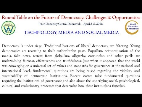 Future of Democracy | Discussion on Technology, Media and Social Media