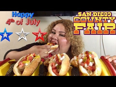 Happy Fourth of July HOT DOGS/ MUKBANG Free Tickets to Del Mar Fair